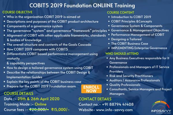 COBIT5 2019 Foundation Training