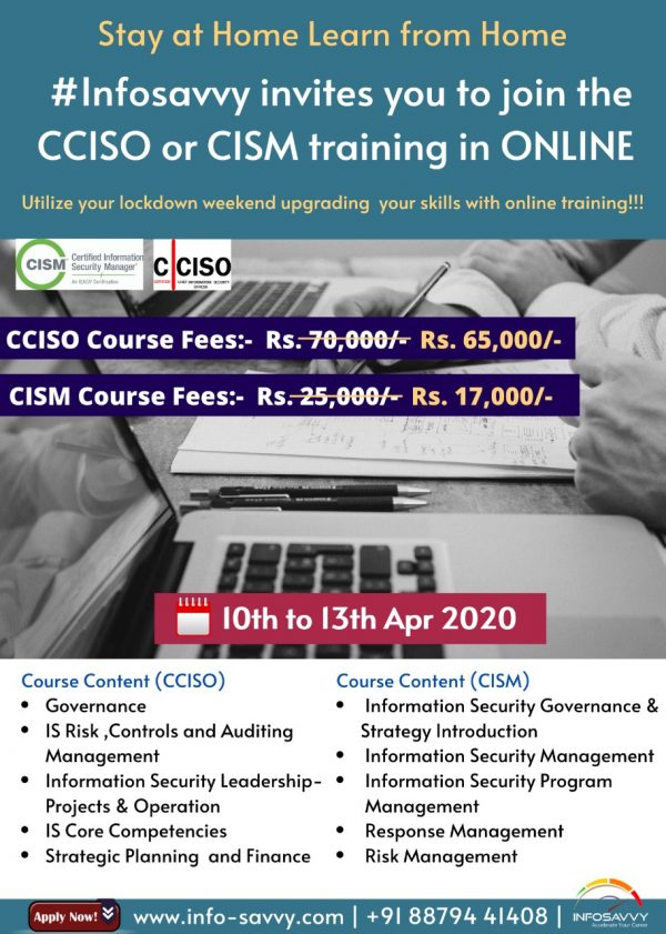 EC-Council Certified Chief Information Security Officer | CCISO