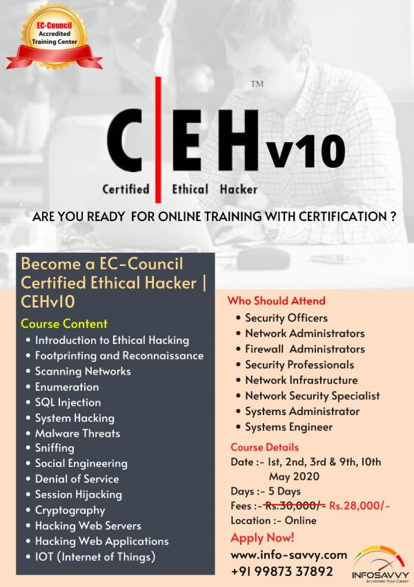 ceh v10 training with certification
